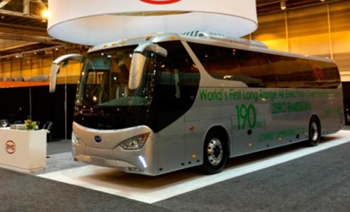 ByD C9, el primer autocar eléctrico para trayectos largos