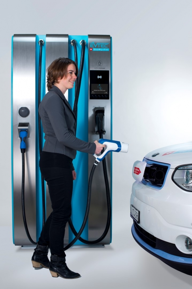 Swiss superfast charging station for electric vehicles