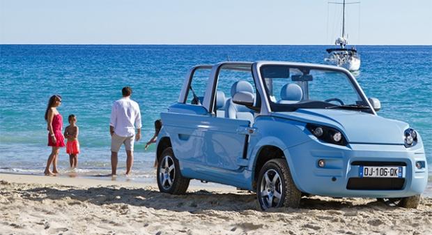 PSA Citroën produce the Bolloré Bluesummer electric vehicle
