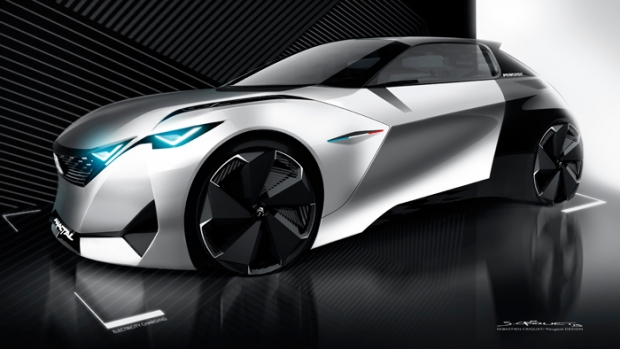 Peugeot Fractal, an electric urban coupe