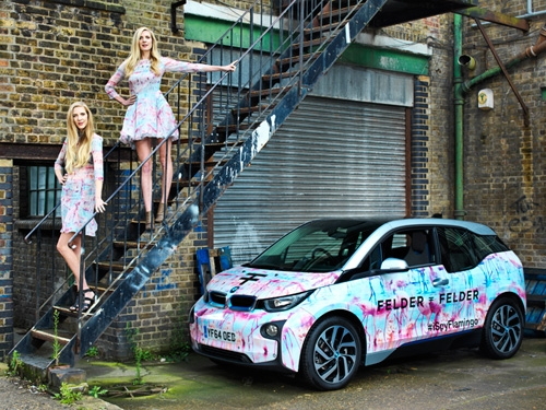 Florida Flamingo`s from Felder Felder unveiled on BMW i3