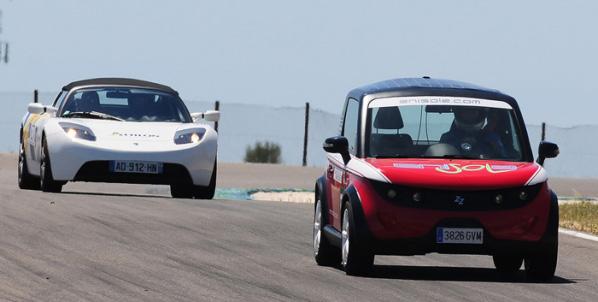 Carrera de coches eléctricos en el Circuito de Catalunya