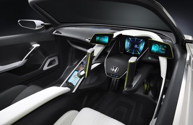 Doble palanca de dirección en el Honda EV-STER