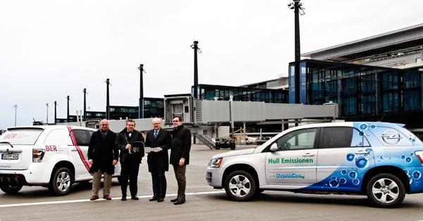 Los aeropuertos de Berlin prueban el Opel HydroGen4