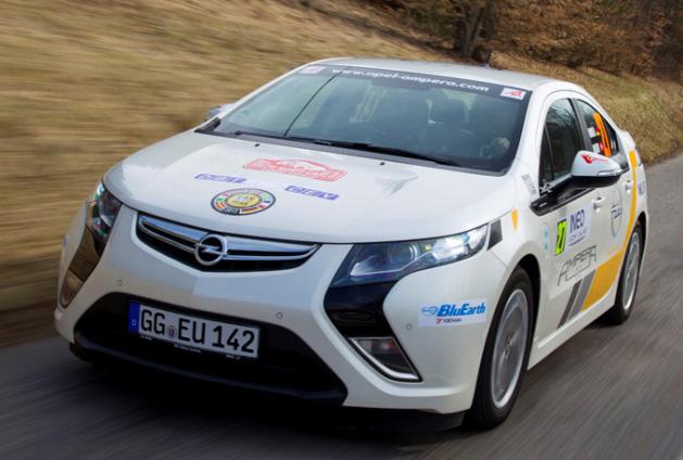 El Opel Ampera gana el Rallye Monte Carlo