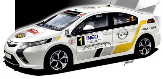 El Opel Ampera debuta en el IV Eco Rally Vasco Navarro