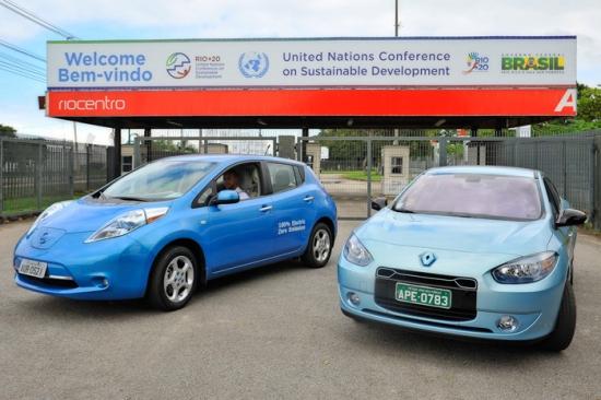 RIO+20 en Brasil con coches eléctricos