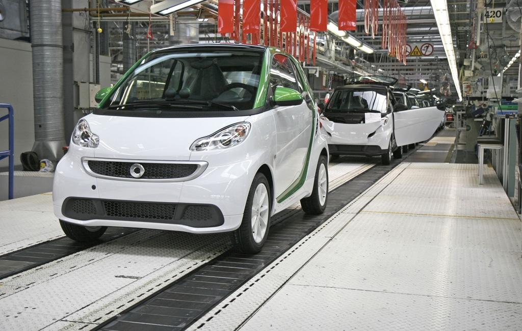 El Smart Electric Drive en producción