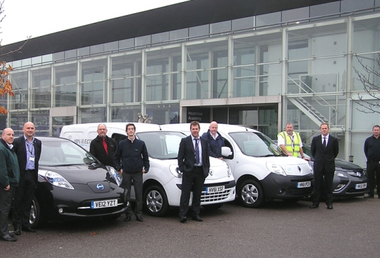 Heathrow use test electric cars