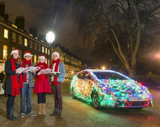 Toyota Prius in Camden Christmas celebration