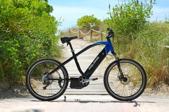 Polaris con la bicicleta eléctrica