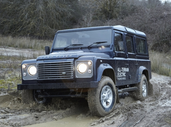 Seven electric Land Rover Defender