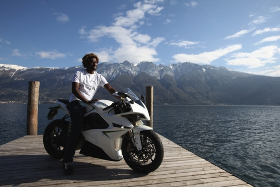 Electric motorbike CRP Energica with ABS