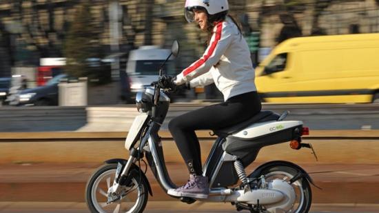 Una scooter eléctrica de Yamaha