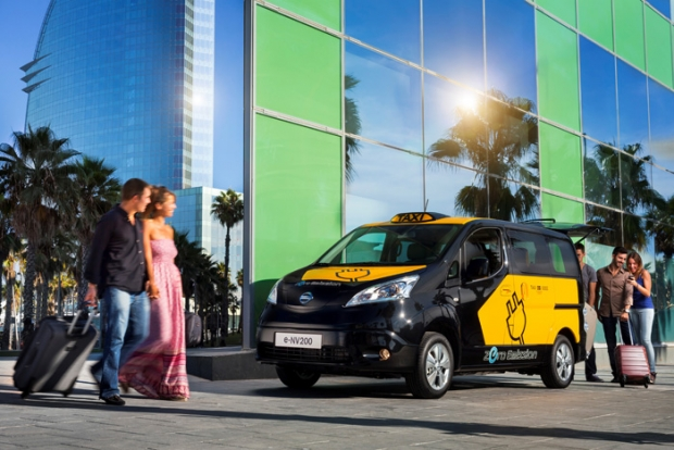 Nissan e-NV200 electric taxi for Barcelona