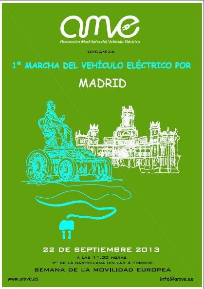 1º Marcha del Vehículo Eléctrico por Madrid