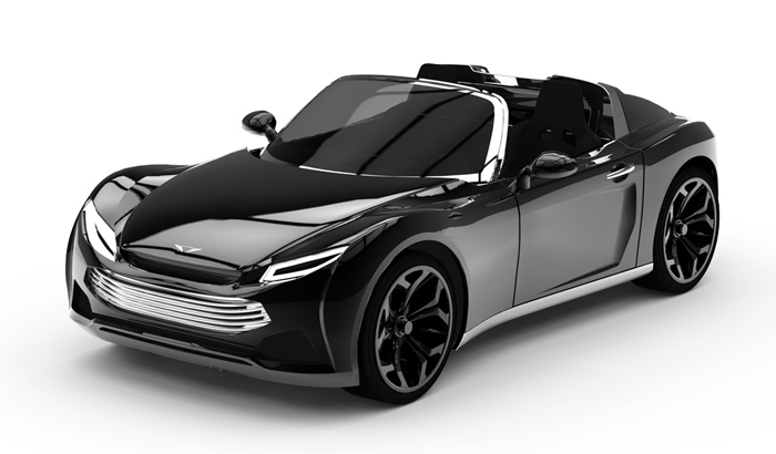 Pariss two-seater electric roadster